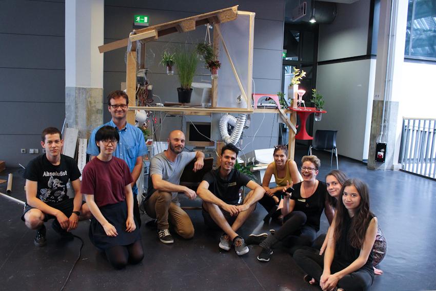 Von links nach rechts: Olf, Yutie, Roland, Angelo, Jonathan, Helena, Caro, Helena und Veronika - mit dabei aber nicht auf dem Bild: Ansgar und Maxie