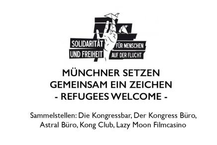 REFUGEES WELCOME | Spendenaufruf München