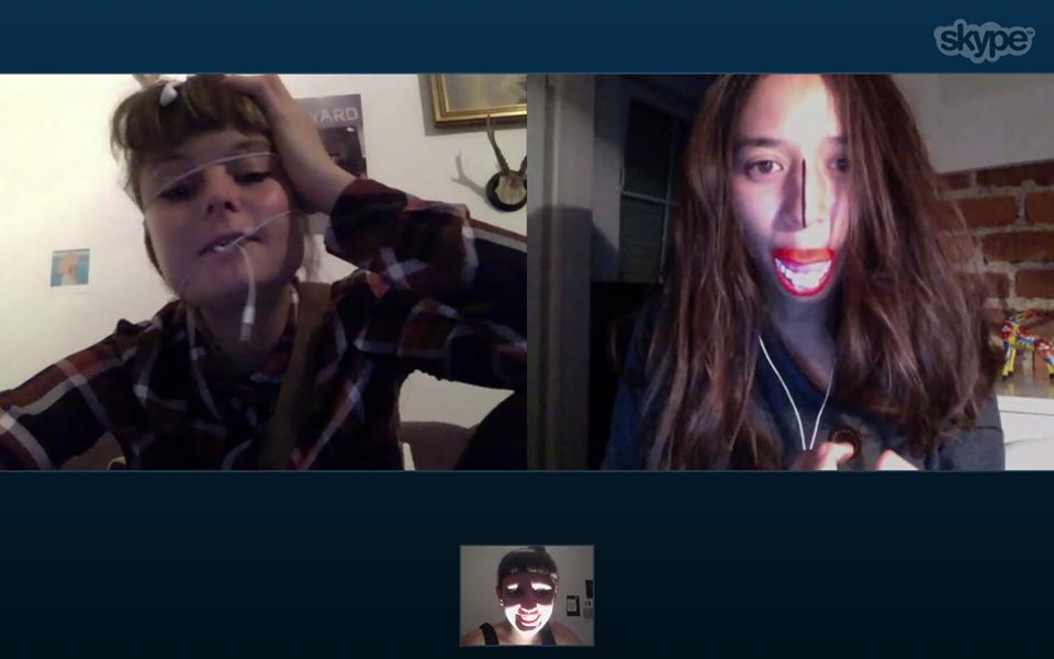 Eine ganz normale Skype-Konferenz