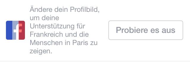Facebookaufforderung