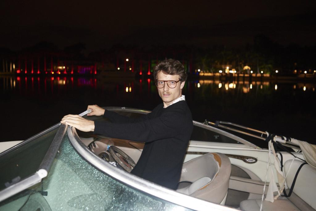 Ich in einer Yacht