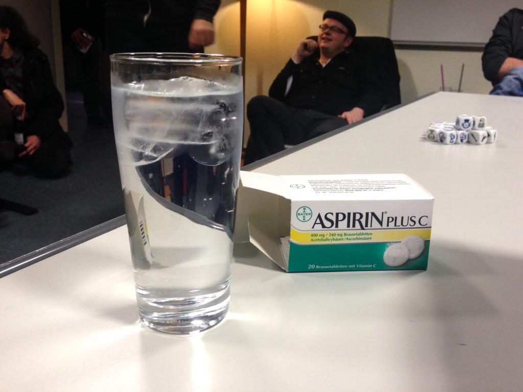 Gin Tonic und Apsirin