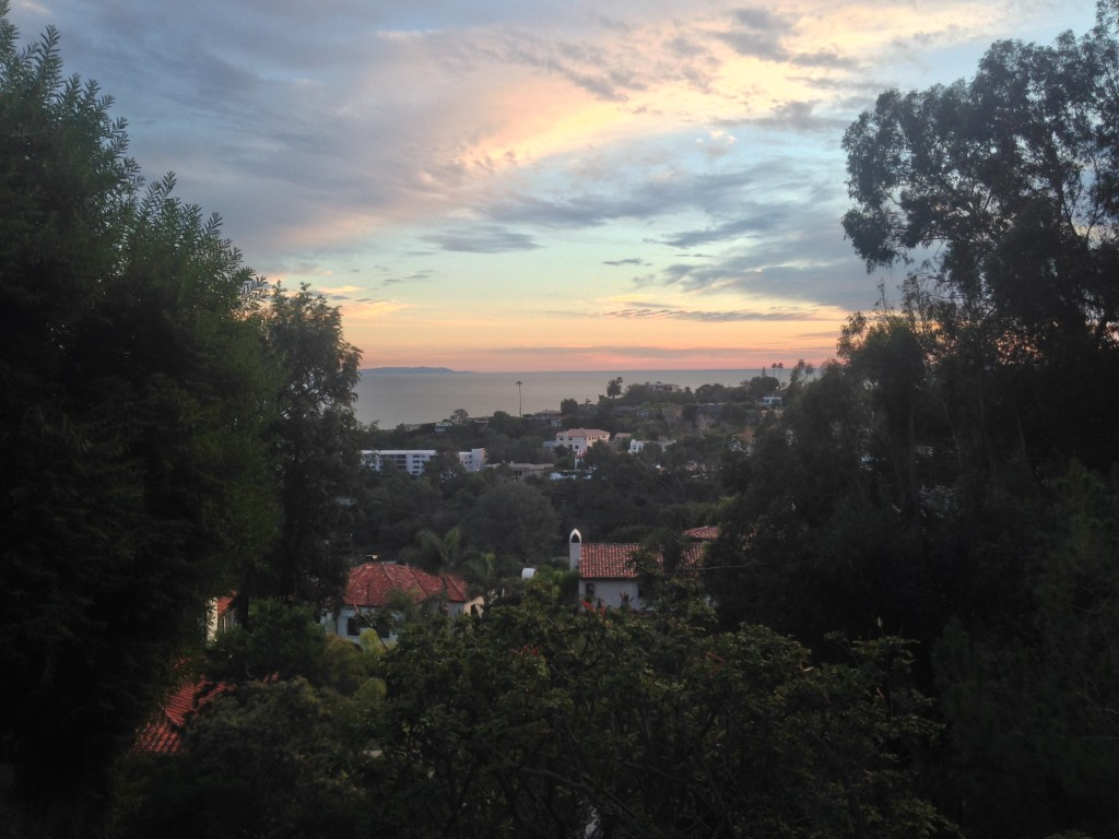 Blick auf das Meer von der Villa Aurora