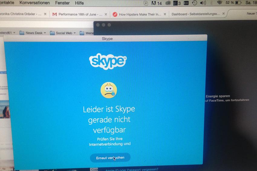 Skype nicht verfügbar