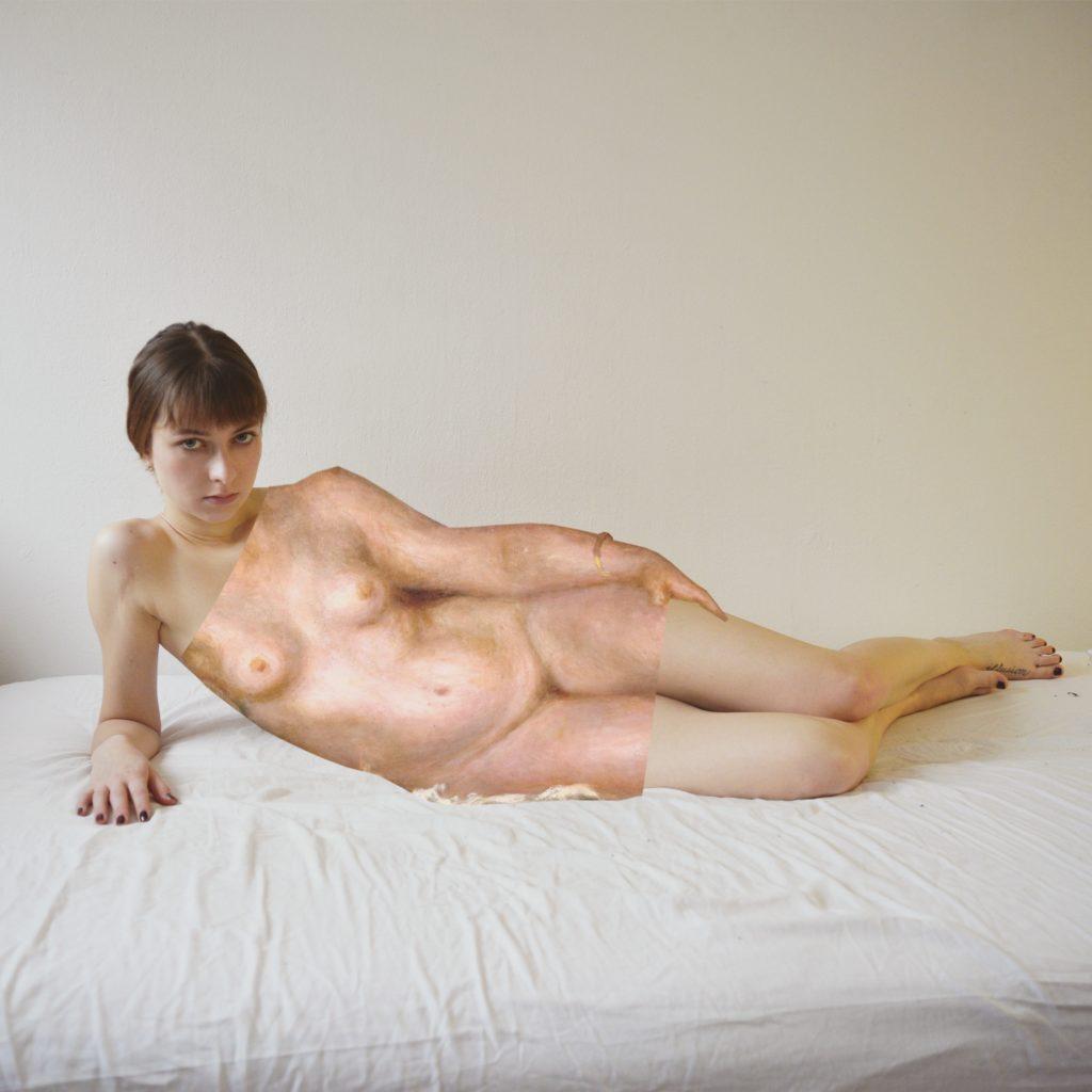 """Maria Justus als """"femme nue sur un canapé"""""""